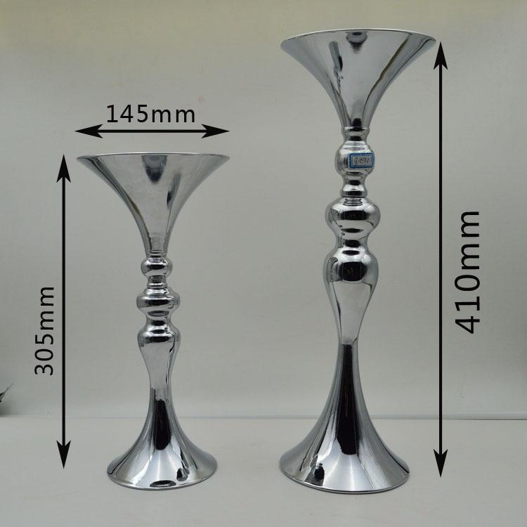 30 / 40цм висок сребрни цвет ваза / - Свечани и забавни прибор