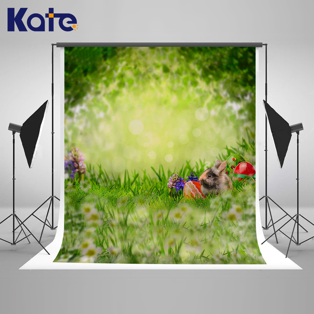 Kate 150x220cm Easter Backdrops Green Meadow Photo Studio Background Backdrop Rrabbit Backgrounds Easter Photography Props
