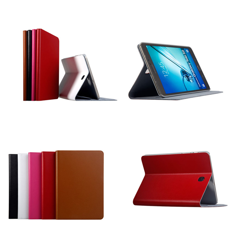 Genuine Leather+Plastic Shell Stand Ultra-thin Book Case For Samsung Galaxy Tab S2 8.0 T710 T715 T715C 8 inch Tablet Cover