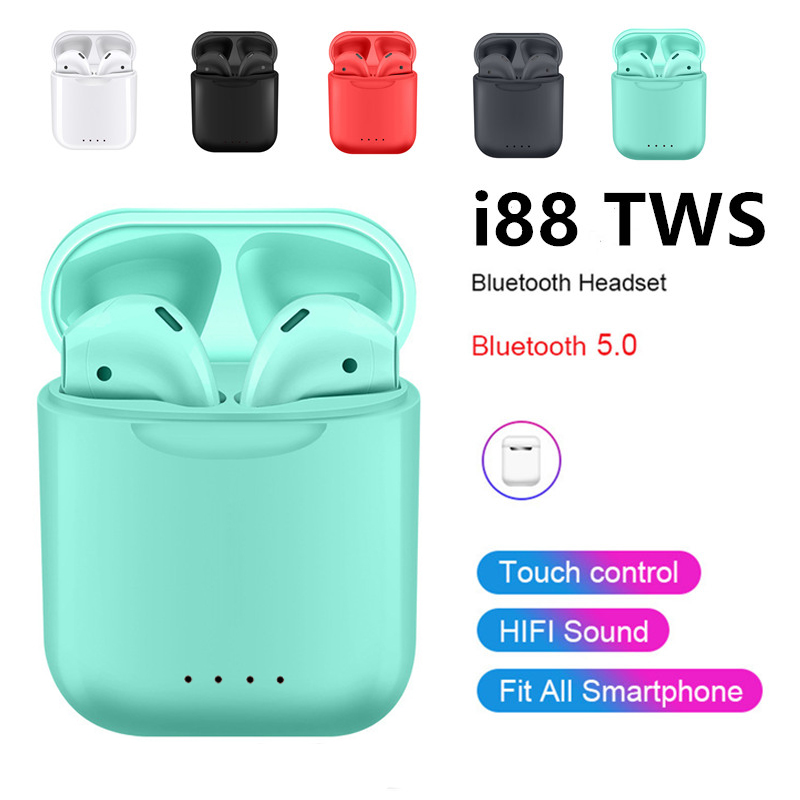 True <font><b>Wireless</b></font> Earbud Headset <font><b>i88</b></font> <font><b>TWS</b></font> <font><b>Bluetooth</b></font> <font><b>Stereo</b></font> Touch Control Earphone for huawei xiaomi iphone All Smart Phone i10 i12 i7 image