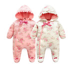 Baby Girl Onesie Rompers 0-3 Months 2018 New Born Baby Clothes Winter Floral Baby Onesies Newborn Girls Fancy Overalls