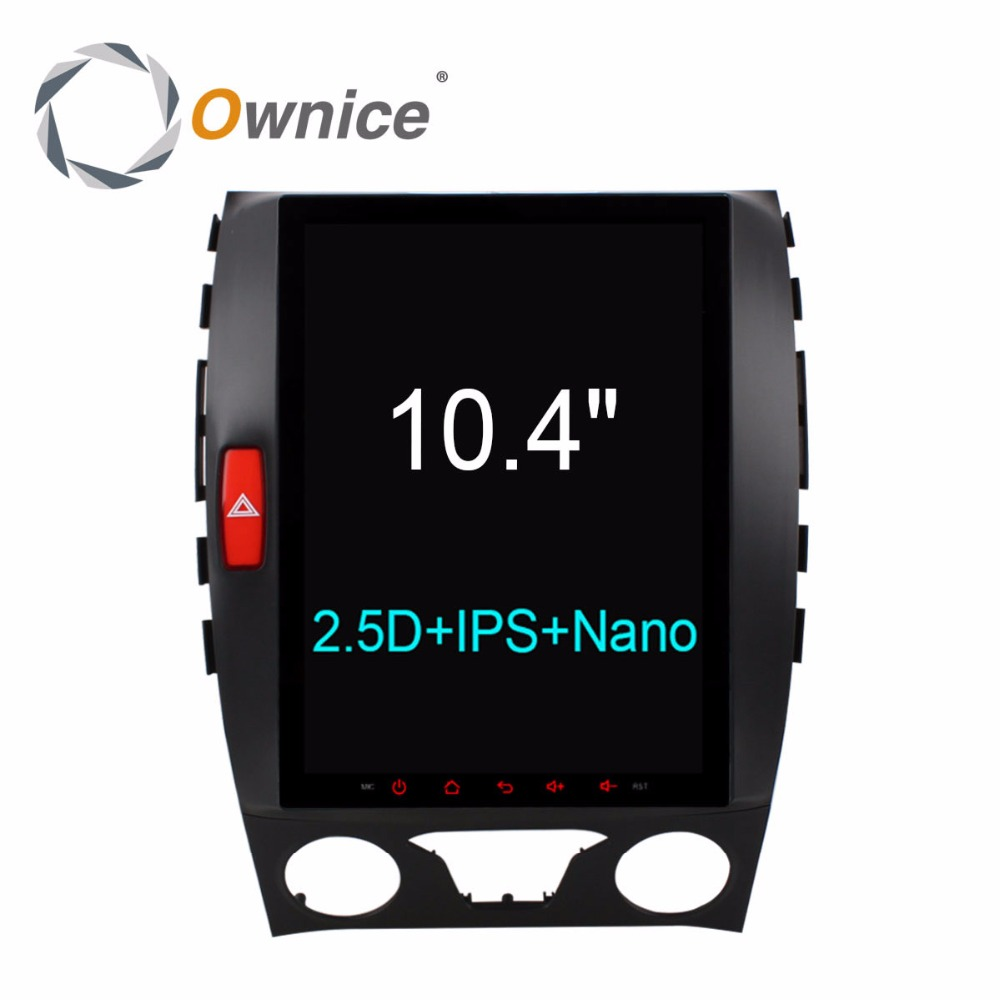 Ownice Vertical 10.4 9.7 IPS 2.5D Android 6.0 Voiture DVD GPS Lecteur pour Ford edge 2015 2016 2017 2G RAM 32G DAB + DVR TPMS 4G LTE