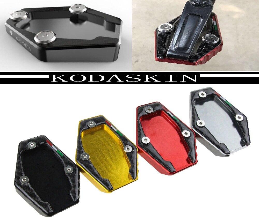 KODASKIN Motocicleta CNC Alumínio Side Suporte Ampliar Placa para Ducati MONSTER 821 1200 795 796