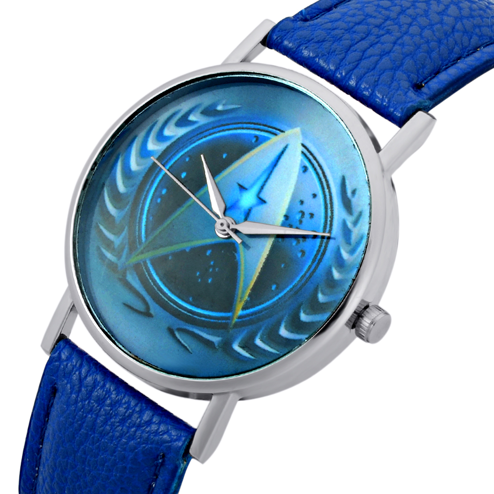 Analytical New Fashion Unisex Star Trek Quartz Wrist Watch Charm Men Women Leather Bracelet Watch Men's Watches