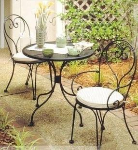 Venta al por mayor de hierro forjado mesas y sillas para exterior balc n jard n mesa de caf - Sillas para balcon ...