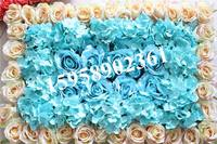EMS Free Shipping 60 40cm Champagne Mix Color Artificial Silk Rose Flower Wall Wedding Background Lawn