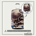 Travel Luggage Cover 3D Snakeskin Print Elastic Stretch Suitcase Protective Cover Apply to 18-30 Inch Trolley Case Protector