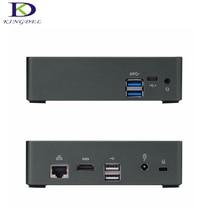 Micro pc настольный компьютер Core i7 6500U Dual Core, hdmi 4 К, USB3.0 LAN, Окна 10 Intel HD Графика 520 с вентилятором Мини-ПК