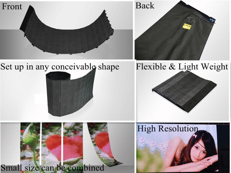 product http://www.fullcolorled-display.com/ Flexible LED Display Flex Curtain Displays LED Flexible screen P16 outdoor