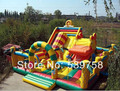 Guangdong fabricantes que venden trampolín inflable, toboganes inflables, castillo inflable, castillo Grande