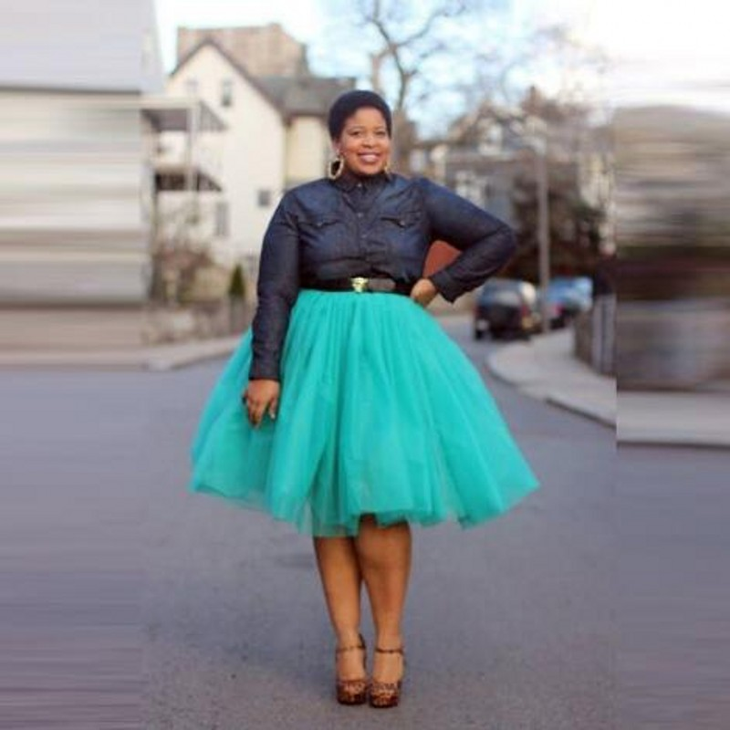 US $25.2 10% OFF|Street Fashion Women Tulle Skirt Plus Size 5 Layers Tulle  One Lining Puffy A line Custom Made Knee Length Tutu Satin Waist-in Skirts  ...