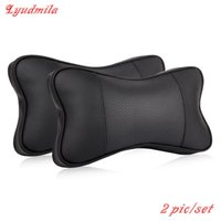 FOR AUDI For Mercedes Benz Leather Car Headrest / Neck Auto Safety Pillow / Cowhide Seat Headrest / Genuine Leather Headrest