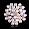 Classic Bunch Simulated Pearls Flower Wedding Bridal Pins and Brooches for Women or DIY Wedding Bouquets in assorted