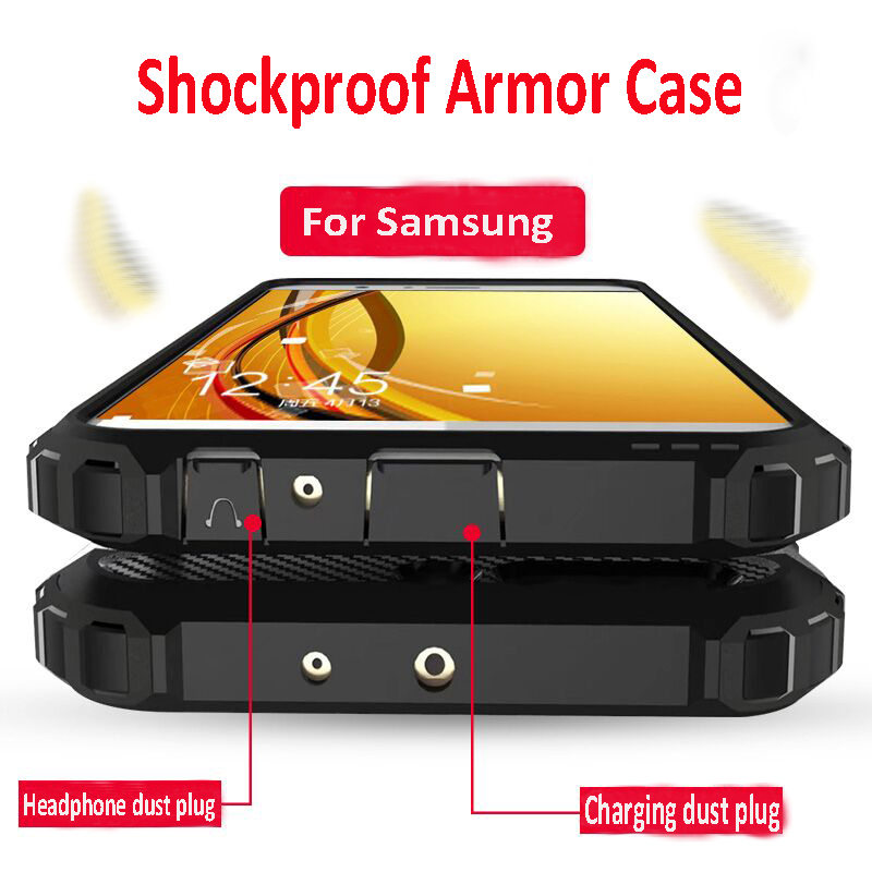 Luxury Armor Shockproof Bumper Case For Samsung Galaxy A50 A30 A10 A40 M20 A20 Case Cover A5 2017 A7 A8 2018 Silicone Soft Case