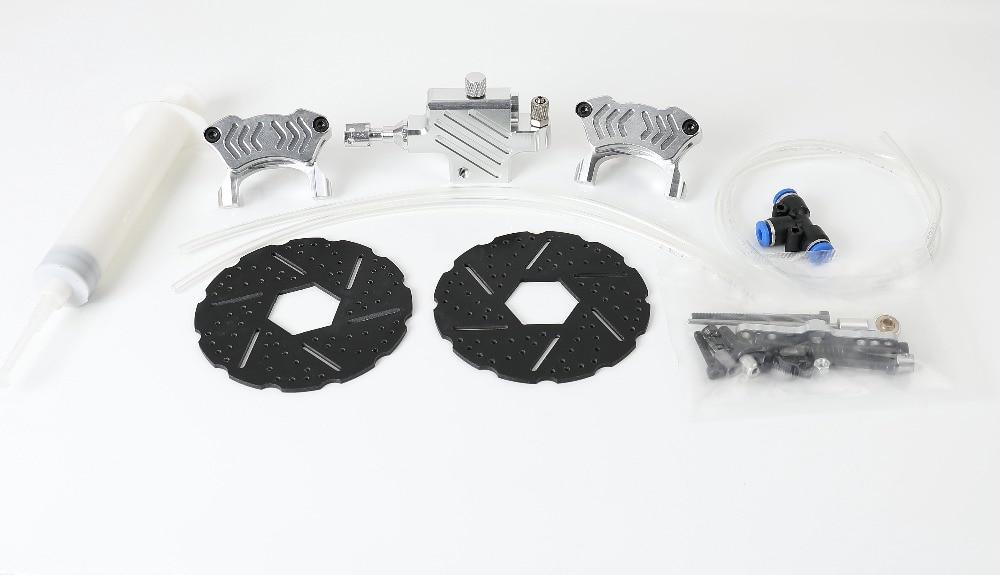 1/5 baja 새로운 프론트 유압 디스크 브레이크 세트 1/5 스케일 hpi km rv baja 5b ss 프론트 휠-에서부품 & 액세서리부터 완구 & 취미 의  그룹 1