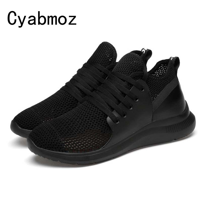 Cyabmoz Men Fashion Mesh Height Increase Elevator Shoes 6 cm Invisibly Heel for Summer Breathable Casual Sports Shoes Male