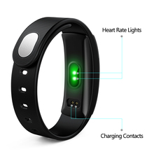 Diggro QS80 Heart Rate Monitor Smart Band Blood Pressure Monitor Smart Wristband Fitness Tracker IP67 Bracelet for IOS Android