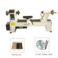 220V 750W Stepless Speed Woodworking Lathe 650 3800RPM 3 Stalls Wooden Bowl Lathe With Turning Tools 6 Inch Linkage Chuck