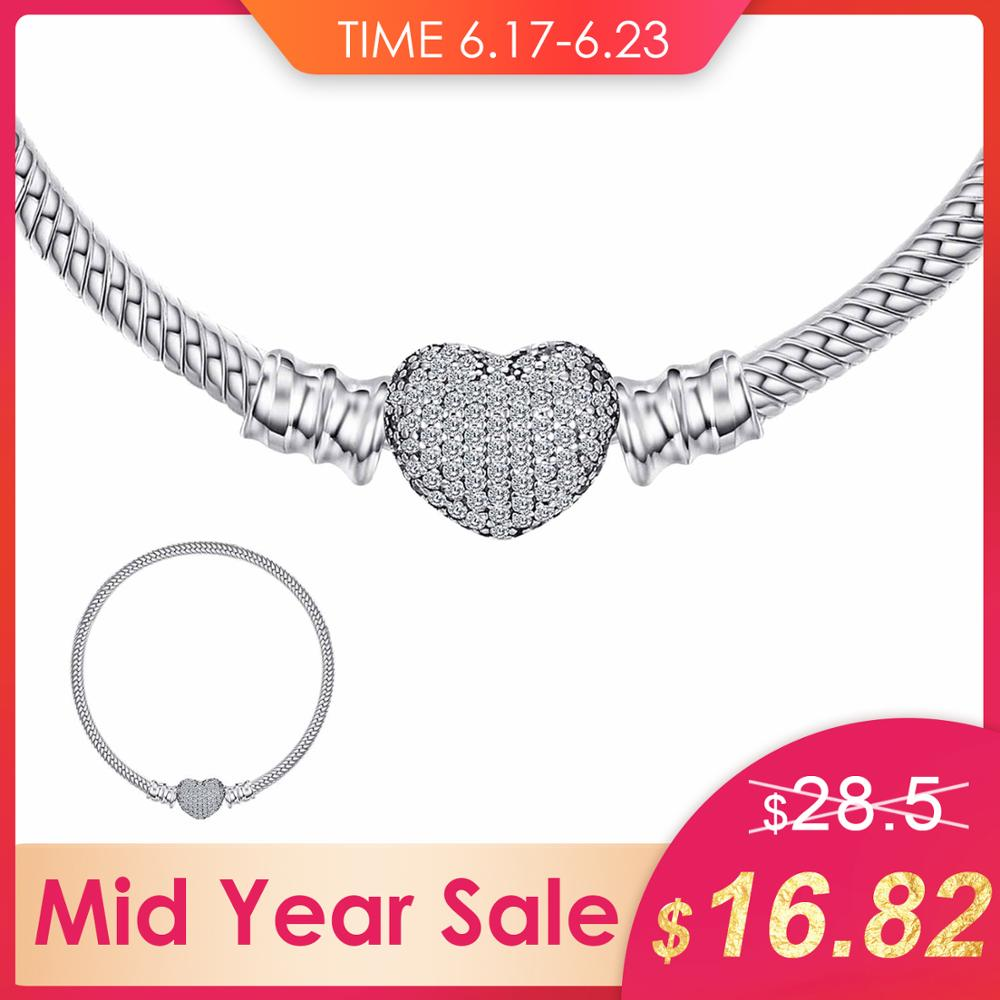 Jewelrypalace 925 Sterling Silver ElegantPave Heart Clasp Bracelets Love Gift Jewelry Fashion Women Gifts Anniversary NewJewelrypalace 925 Sterling Silver ElegantPave Heart Clasp Bracelets Love Gift Jewelry Fashion Women Gifts Anniversary New