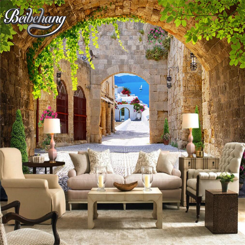 Beibehang Wallpapers European Arch Wallpaper Photo Wallpaper 3d Living Room Bedroom TV House Decorative Wallpaper For Walls 3 D