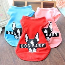 Solid Color Summer Pet Clothes For Small Dogs Print Cartoon Teddy Clothes S/M/L/XL Popular Pet Dog Vest Chihuahua Dog Clothing winter dog jumpsuit cartoon bear pet outfit costume for chihuahua teddy dog clothes 4 color xs s m l xl