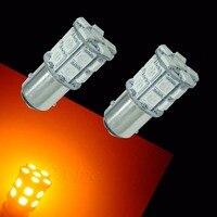 PA LED 4PCS x BA15D 20SMD 5050 LED AUTO SIGNAL TURN LIGHTS ULTRA AMBER YELLOW LED 12V