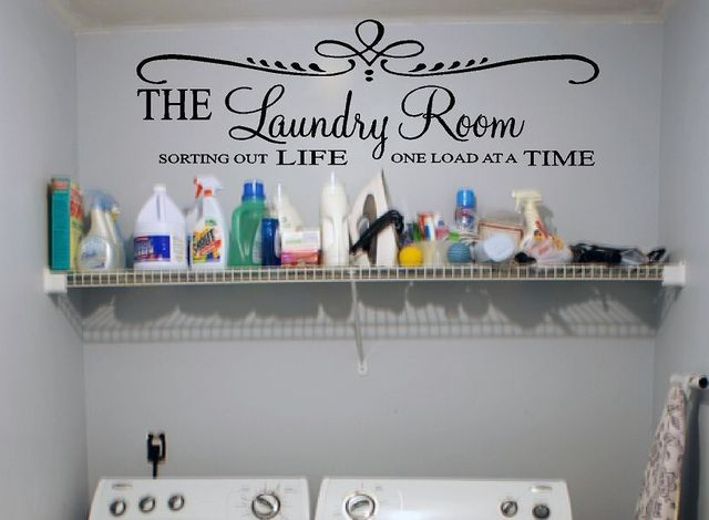 Laundry Room Vinyl Wall Quotes Free Shipping Laundry Room Vinyl Wall Decal Creative Diy Quote