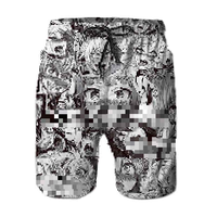 Ahegao 2019printed Shorts Men's Summer Anime Girl Print Beach Shorts Personalized Sportswear Boys Boardshorts Dropship