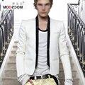 Balman homens blazer branco jaqueta traje traje homme hombre preto branco homens blazer blazer masculino slim fit