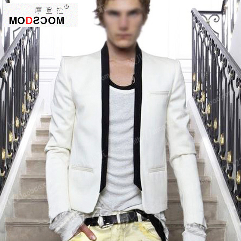 Men white blazer hombre black costume homme white costume jacket blazer men blazer masculino slim fit