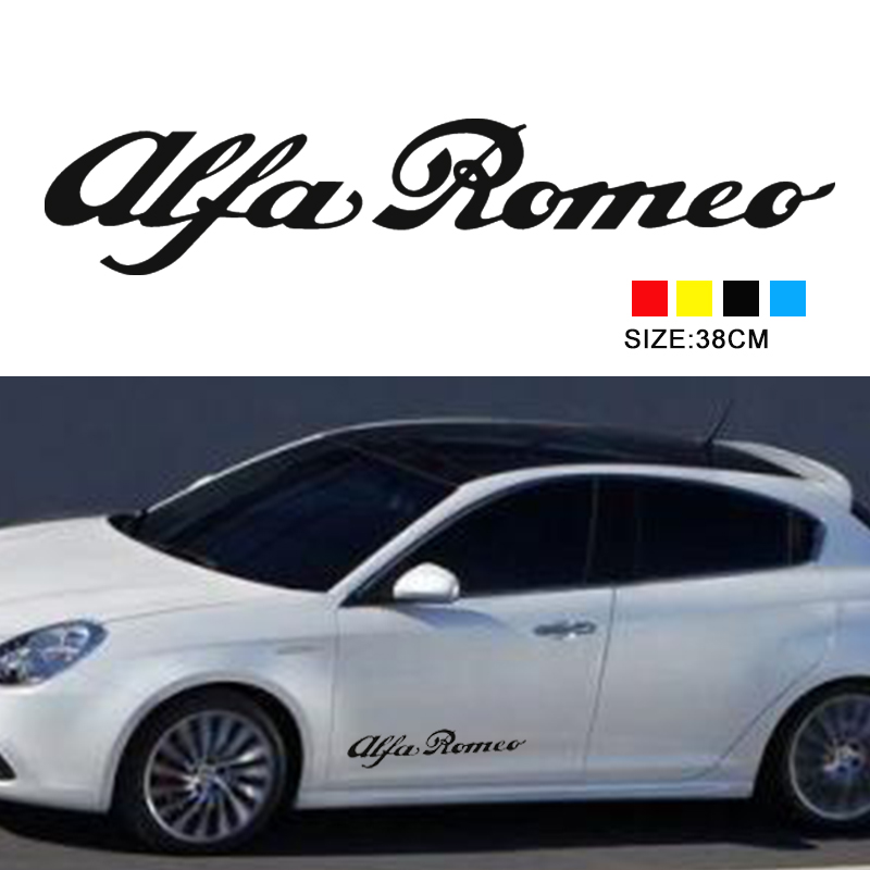 Alfa Romeo hi temp cast Vinyl Decals Stickers car brake caliper logo emblem badge sticker is myth 147 156 159 166 2pcs yongxun stickers decal for alfa romeo 147 156 159 166 giulietta stripe body kit door handle guard sill da 432