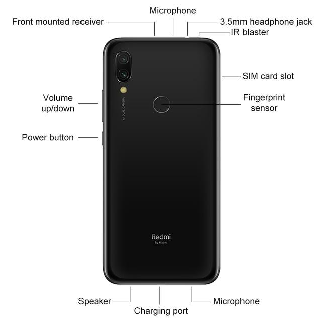 Global Version Xiaomi Redmi 7 3GB 32GB Smartphone Snapdragon 632 Octa Core 4000mAh 12MP Dual Cameras 6.26 3