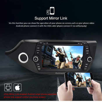 2 Din Android 9.0 Touch Screen Car Multimedia Player for Kia Ceed 2013 2014 2015 Audio Radio Stereo Video WiFI Bluetooth DVD GPS