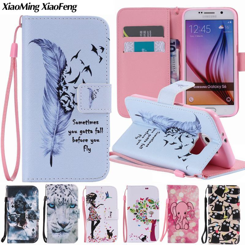 For Coque Samsung Galaxy S6 Edge Case Leather Wallet + Silicone Cover Phone Case Samsung Galaxy S6 Edge Case Flip Luxury Cover ...