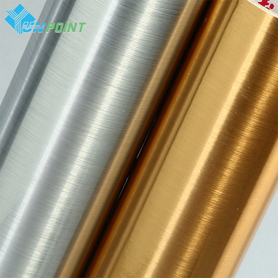 5m Brushed Silver Gold Decorative Film Pvc Self Adhesive