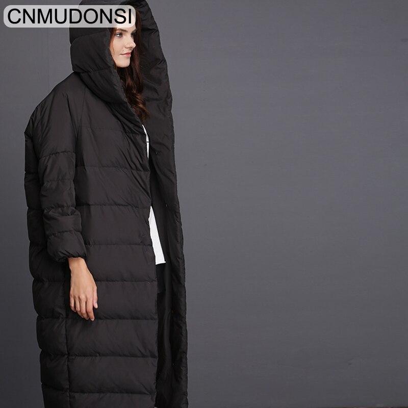CNMUDONSI de Femmes D'hiver De Mode Veste Épaisse Manteau Chaud Lady Coton Parka Veste Longue jaqueta veste D'hiver avec capuche Feminina - 5