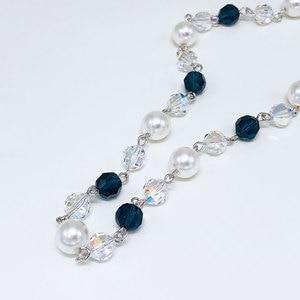 Image 4 - Viennois Perle Lange Halskette Für Frauen Mischen Farbe Perle Halskette Pullover Kette Halskette Koreanische Stil Halskette Mode Schmuck