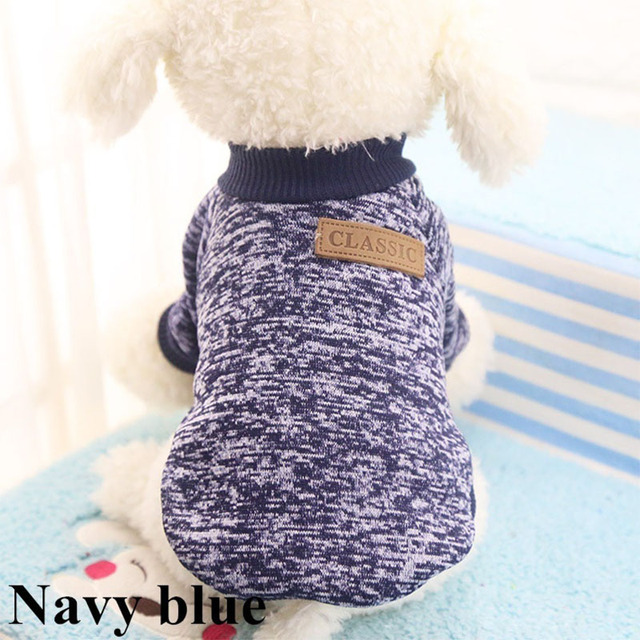 Classic Warm Dog Clothes Puppy Pet Cat Clothes Sweater Jacket Coat Winter Fashion Soft For Small Dogs Chihuahua XS-2XL 3