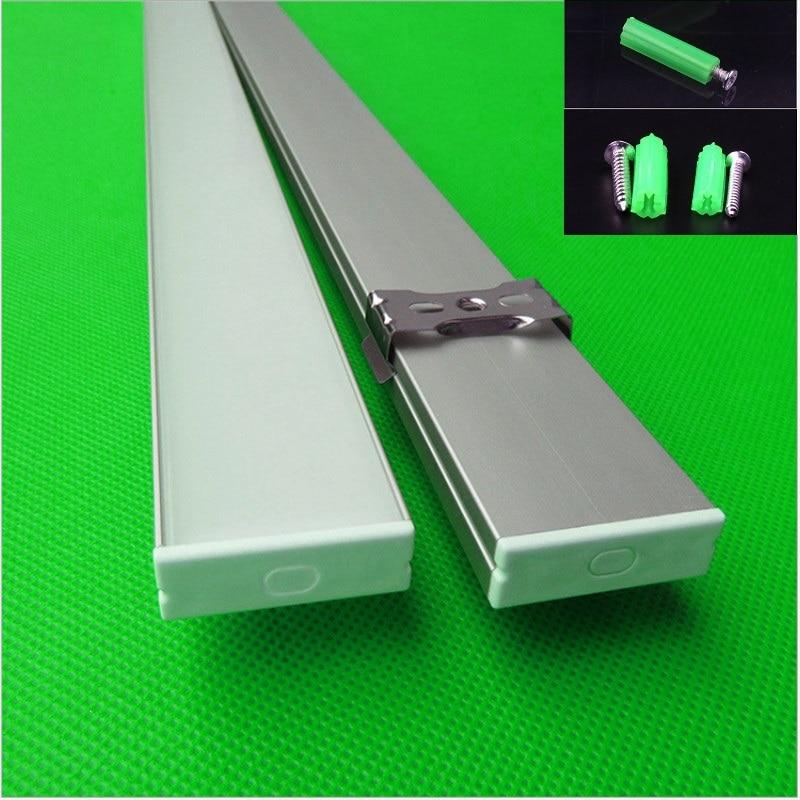 10-30 pcs/lot 80 pouces 2 m longue W30 * H10mm ultra mince led profil en aluminium pour double rangée 27mm led bande, linéaire bar boîtier de la lumière
