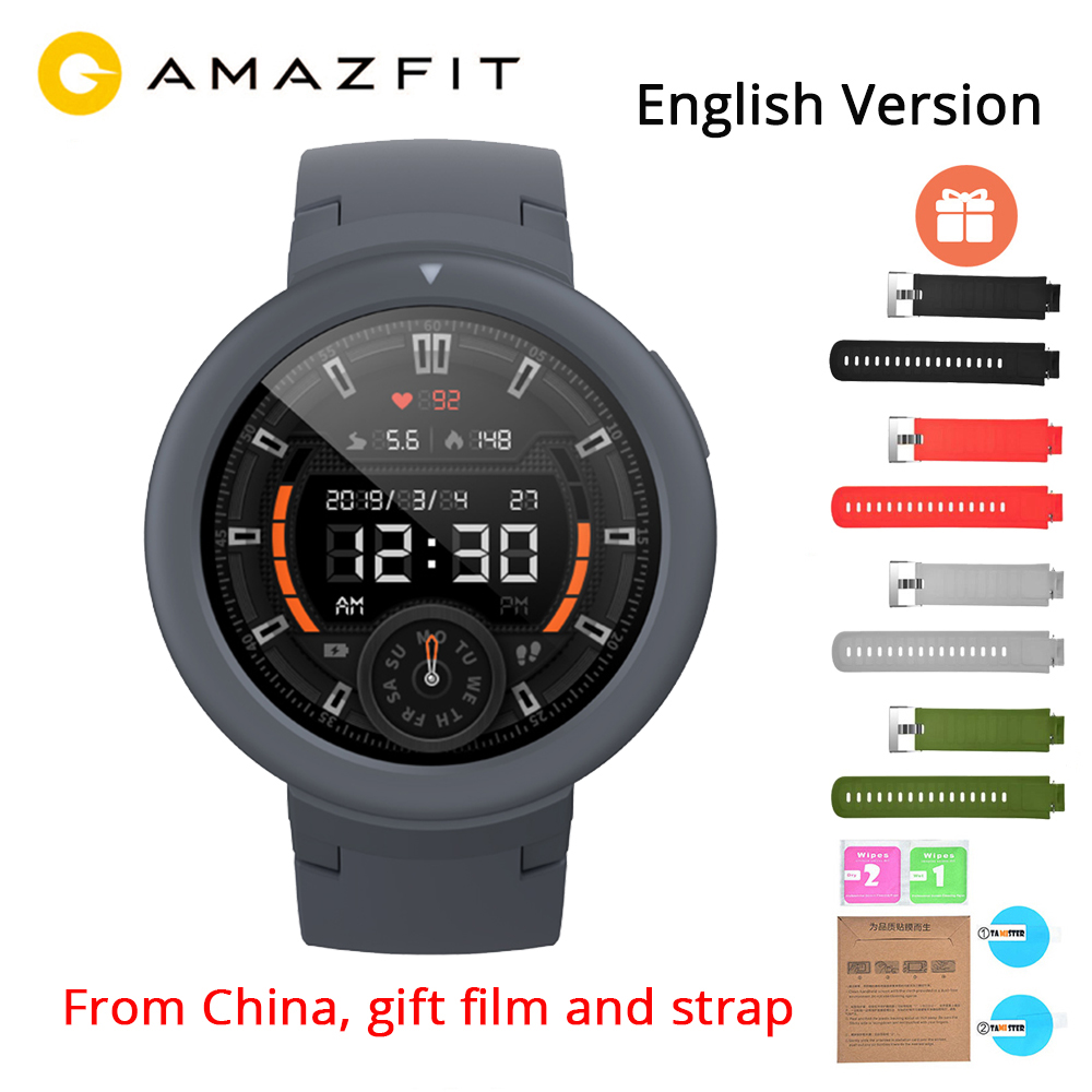 English Version Xiaomi Huami Amazfit Verge Lite GPS Smart Watch IP68 Waterproof 1 3 AMOLED Screen