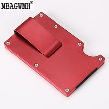Metal Wallet for Credit Cards High Quality Aluminum Business Multi-color Credit Card ID Holder with RFID Anti-theft Card Holder