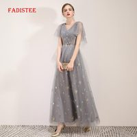 FADISTEE summer party dress Prom Dresses Long dress Vestido de Festa A line elegant V neck little star evening formal gown