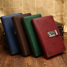 Creative Stationery Notebook Retro Password Book With Lock Diary Thread Installe