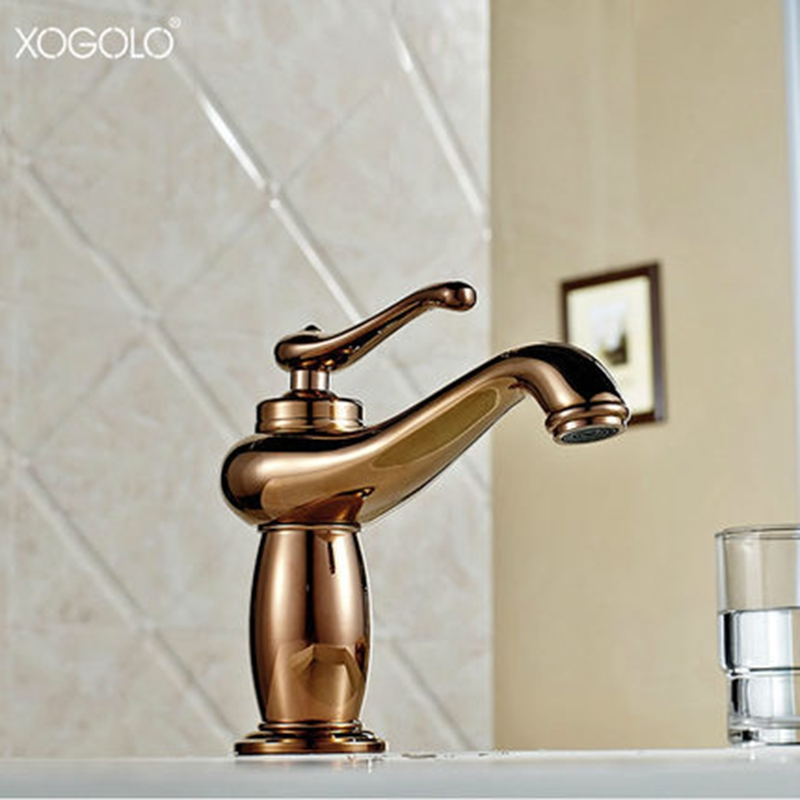 gold color bathroom faucets xogolo luxury antique bathroom faucet cold and solid 18529