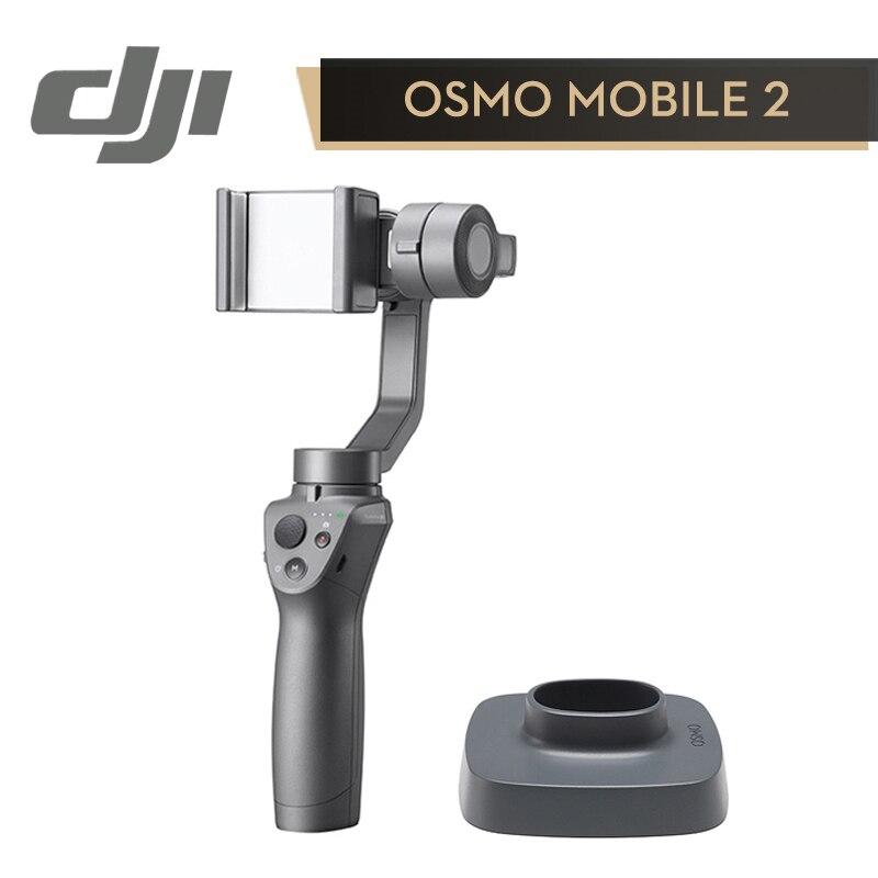 DJI Osmo Mobile 2 Stabilisateur 3-Axes De Poche Cardan pour SmartPhone (Lisse Activetrack Suivre/Motionlaps/Zoom contrôle)