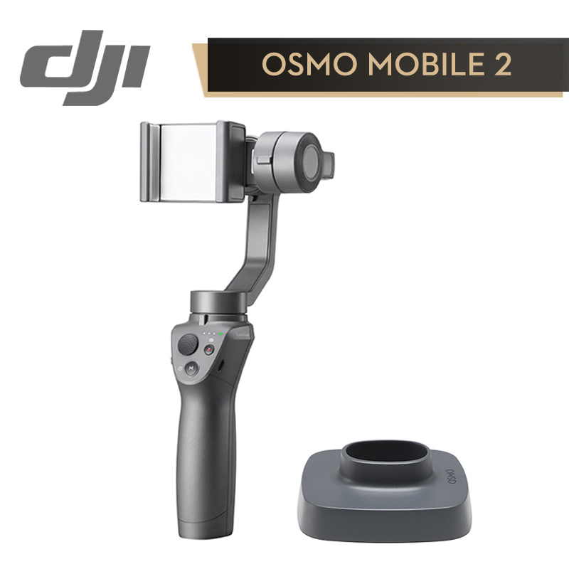 DJI Osmo Mobile 2 Stabilizer 3-Axis Handheld Gimbal for SmartPhone (Smooth Activetrack Follow / Motionlaps / Zoom Control) original dji osmo mobile handheld gimbal 3 axis handheld gimbal newest beyond smart best gift in stock