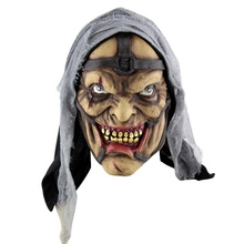 Halloween Latex Mask Horrifying Mask Latex Mask With Hat For Masquerade Halloween Costume Bar Realistic Festival Party Supplies