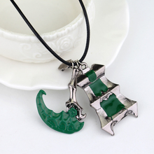 Game Jewelry LOL Thresh Weapon Necklace Zinc Alloy Sickle Bisoprolol League Of Chain Warden Legends Couples Necklaces Pendants