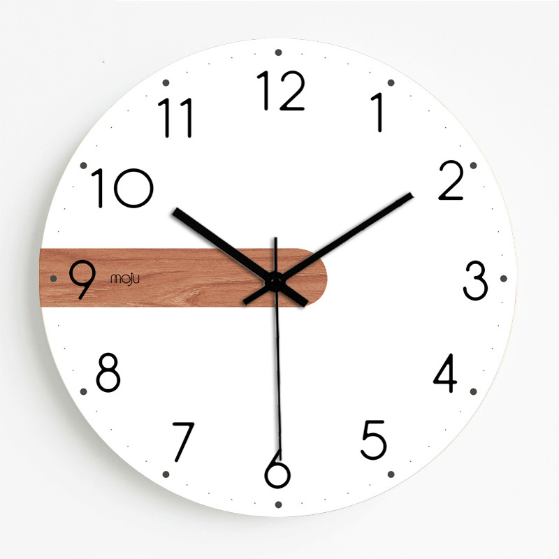 10/12/14/16inch Wood Wall Clock Modern Design Living Room White Silent Home Nordic Clock Luxury Children Room Decoration Watch