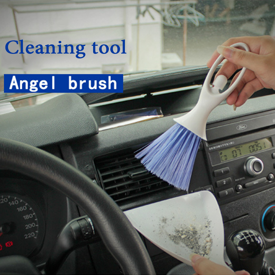 Atreus Car Air Conditioning Outlet Cleaning Brush Tool Sticker For VW Polo Passat b5 b6 b7 golf 4 7 5 t5 Touran Toyota Corolla